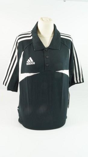 adidas Football soccer Men Größe L schwarz weiss 100% Baumwolle black white