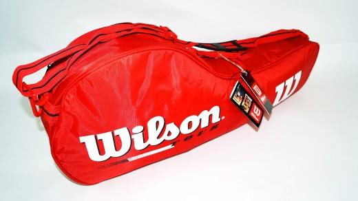 Wilson Tour 3er Tennistasche (rot) Bag