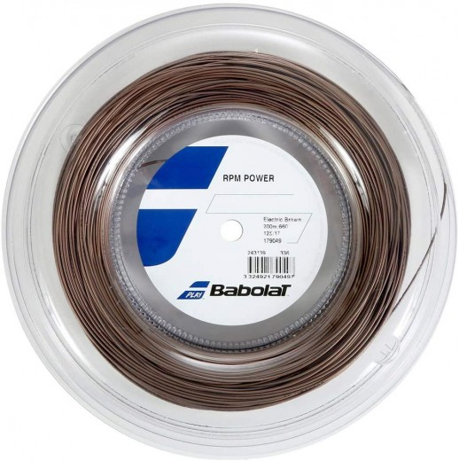 Babolat RPM Power 200m Saitenrolle (1.25mm) Electric Brown