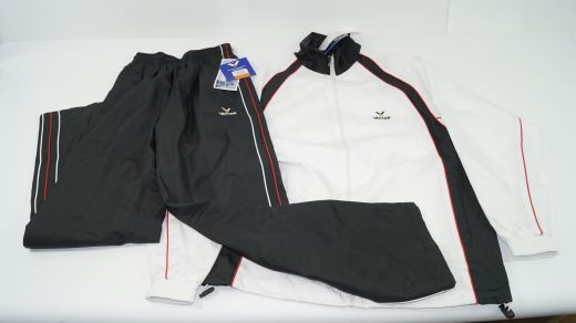 Victor Tracksuit Black & White Trainingsanzug 1