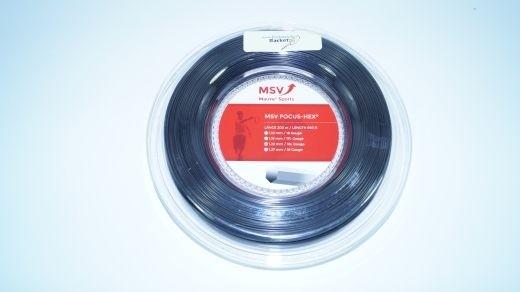 MSV - Focus Hex schwarz 200m (1.23mm) Saitenrolle