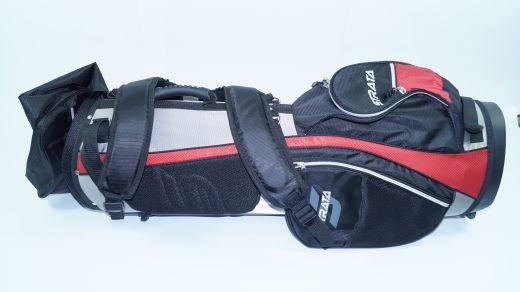 Strata - Golfbag rot schwarz silber Tasche