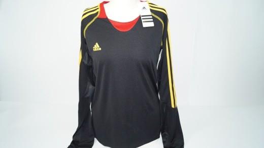 Adidas Trainingsshirt Kids schwarz-rot-gelb (Gr. L)