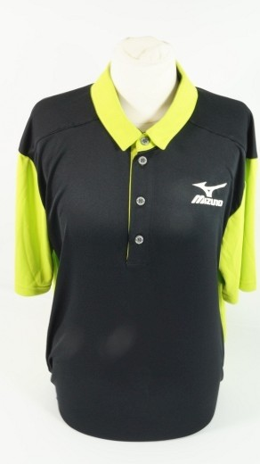 Mizuno Poloshirt for Tennis T-Shirt Gr.M Tennis UNISEX Shirt black green