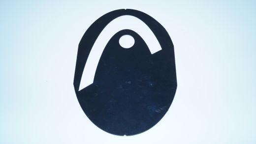 Head - Logo-Schablone (schwarz) Saitenschablone