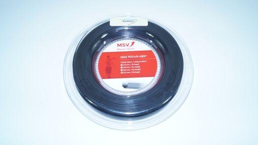 MSV - Focus Hex 200m (1.27mm) schwarz Saitenrolle