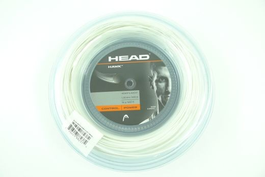 Head - Hawk weiss 200m (1.30mm) Saitenrolle