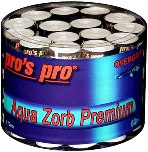 60x Pro's Pro Aqua Zorb Premium Griffband weiß