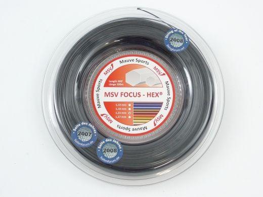 MSV - Focus Hex schwarz 200m (1.27mm) Saitenrolle